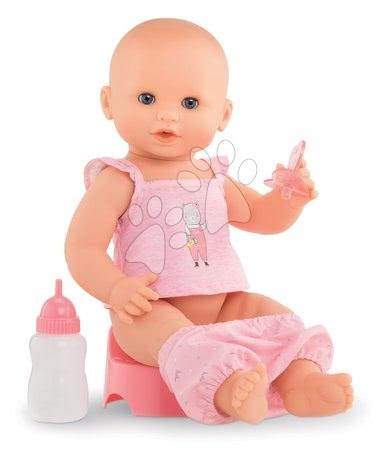 Corolle - Păpușă de jucărie Emma bea, face pipi și baie Mon Grand Poupon Corolle 36 cm cu ochi albaștri, care clipesc și 3 accesorii de la 24 de luni_1
