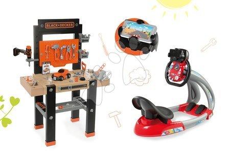 Black & Decker - Set pracovní dílna Black+Decker Smoby s vrtačkou a elektronický trenažér V8 Driver