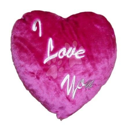 Plišaste blazine - Blazinica srček Ilanit 36 cm temno rožnata