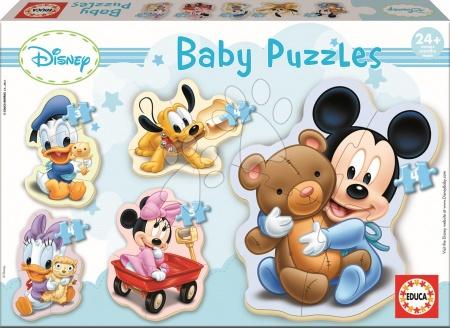 Hračky pro nejmenší - Baby puzzle Mickey Mouse Educa 5obrázkové od 24 měsíců