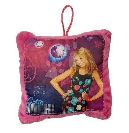 Plišaste blazine - Blazinica Hannah Montana Ilanit rožnata 17*17 cm