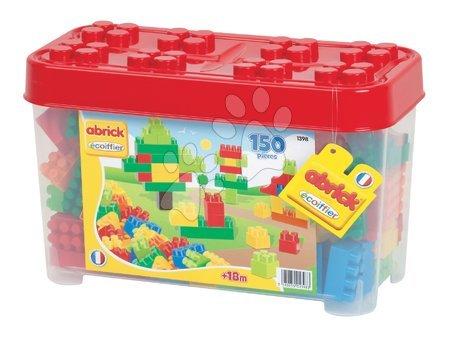 Építőjátékok - Építőjáték Abrick Écoiffier piros dobozban 150 darabos 18 hó-tól