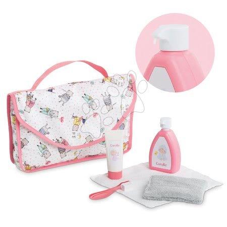 Dodatki za punčke in dojenčke - Kozmetična torbica Baby Care Mon Grand Poupon Corolle s 6 dodatki za 36-42 cm dojenčka od 24 mes