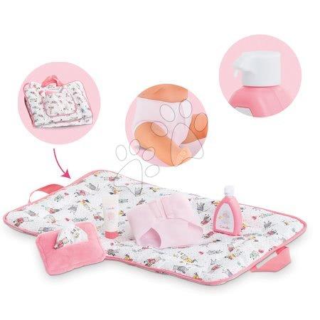 Dodatki za punčke in dojenčke - Previjalna torba s podlogo 2v1 Mon Grand Poupon Corolle s 5 dodatki za 36-42 cm dojenčka od 24 mes