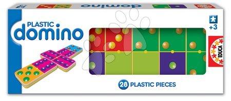 Domino a Lotto - Domino pre najmenších Plastic Educa 28 ks s bodkami
