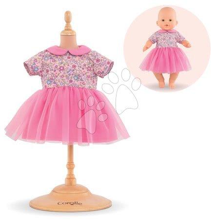 Oblečení pro panenky - Oblečení Dress Pink Sweet Dreams Mon Grand Poupon Corolle pro 36 cm panenku od 24 měs