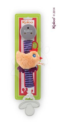 Klip na cumlík Colors-Pacifier Holders Kaloo 27 cm s plyšovým kuriatkom pre najmenších