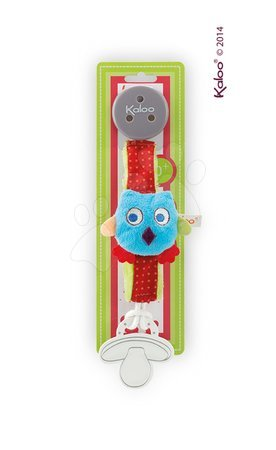 Klip na cumlík Colors-Pacifier Holders Kaloo 27 cm s plyšovou sovičkou pre najmenších