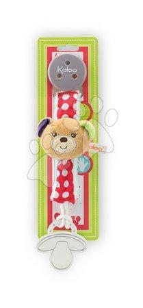 Klip na cumlík Colors-Pacifier Holders Kaloo 27 cm s plyšovým medvedíkom pre najmenších