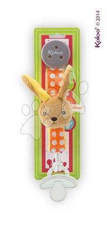 Klip na cumlík Colors-Pacifier Holders Kaloo 27 cm s plyšovým zajačikom pre najmenších