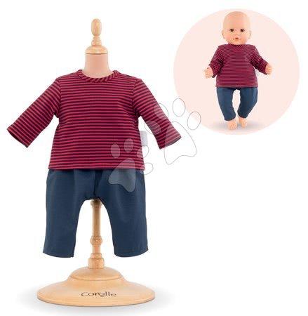 Oblečení pro panenky - Oblečení Striped T-shirt & Pants Mon Grand Poupon Corolle pro 36 cm panenku od 24 měs