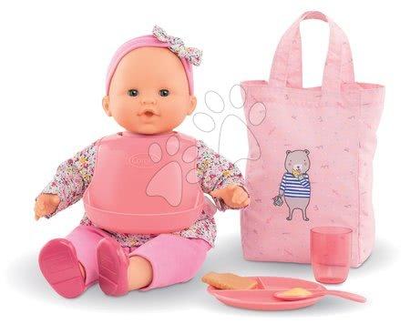 Dodatki za punčke in dojenčke - Jedilni set s torbo in slinčkom Meal Set Mon Grand Poupon Corolle z dodatki za 36-42 cm dojenčka od 24 mes_1