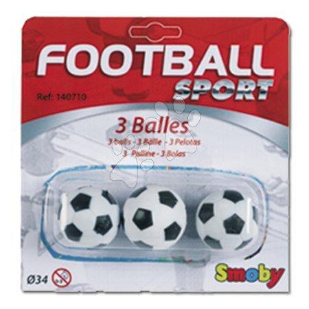 Futbalové loptičky Smoby 3 ks korkové/plastové priemer 34/35 mm