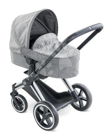 Voziček trikombinacija Cybex Landau 3in1 Priam Corolle zložljiv z multifunkcijskimi sprednjimi kolesi za 42 cm dojenčka