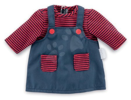 Oblečení pro panenky - Oblečení Dress Striped Mon Grand Poupon Corolle pro 36 cm panenku od 24 měs