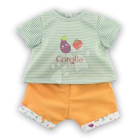 Oblečení pro panenky - Oblečení T-Shirt&Shorts Garden Delights Mon Grand Poupon Corolle pro 36 cm panenku od 24 měs