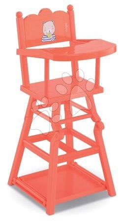 Jídelní židle High Chair 2in1 Mon Grand Poupon Corolle pro 36-42 cm panenku růžová