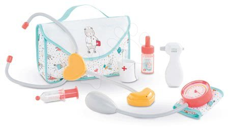 Dodatki za punčke in dojenčke - Zdravniška torbica Large Coral Doctor Set Mon Grand Poupon Corolle z zvokom za 36-42 cm dojenčka od 24 mes