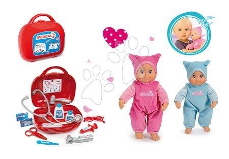 Set detský lekársky kufrík Smoby a bábika MiniKiss so zvukom v čiapočke