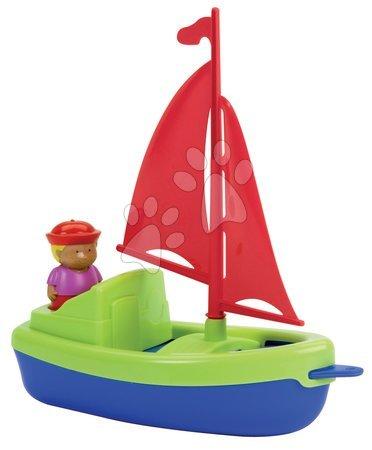 Articole de ștrand - Barcă cu pânză şi marinar Écoiffier albastră-verde de la 18 luni