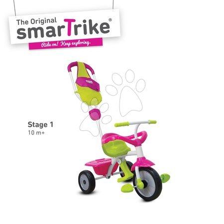 Detská trojkolka Play GL Pink 3v1 smarTrike s vodiacou tyčou od 10-36 mesiacov ružovo-zelená