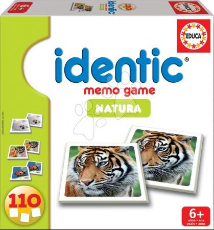 Pexeso Identic Memóriajáték Game Natura Educa 110 db állatokkal 6 évtől
