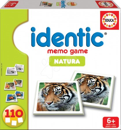 Pexeso - Pexeso Identic Memo Game Natura Educa 110 ks so zvieratami od 6 rokov