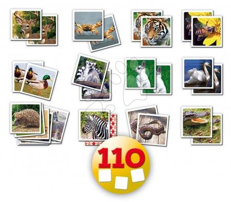 Pexeso - Pexeso Identic Memo Game Natura Educa 110 ks so zvieratami od 6 rokov_1