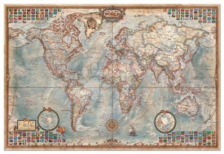Igračke za sve od 10 godina - Puzzle The World Executive Map Educa 4000 dijelova od 15 godina_1
