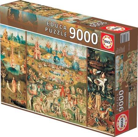 - Puzzle Vrt zemeljskih naslad – Hieronymus Bosch Educa 9 000 delov od 15 leta
