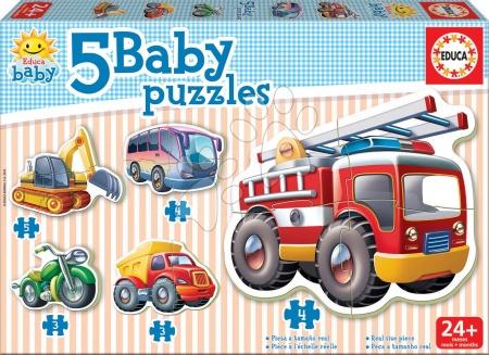 Hračky pro nejmenší - Baby puzzle Dopravní prostředky Educa 5obrázkové od 24 měsíců