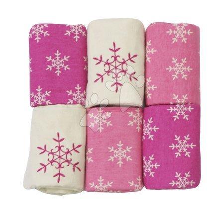 Flanelové pleny toTs-smarTrike vločky 6 kusů 100 % bavlněný flanel růžové