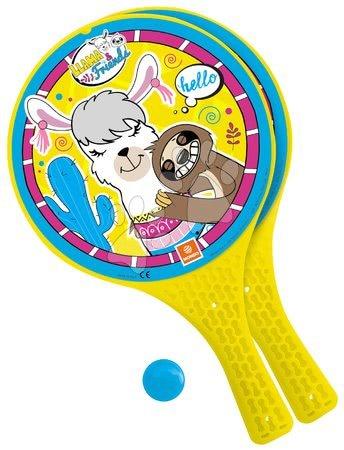 Plážový tenis Llama a přátelé Mondo 2*22 cm rakety a míček