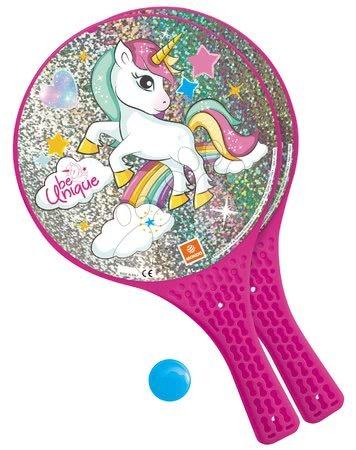 Plážový tenis Jednorožec Unicorn Mondo 2*22 cm rakety a míček