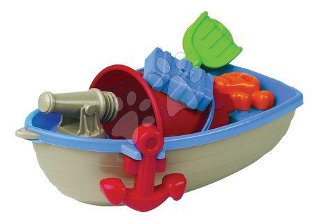 Pirátská loď s kbelík setem Écoiffier 6 dílů (délka 40 cm) modro-šedá od 18 měsíců