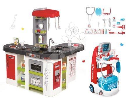 Set detská kuchynka Tefal Studio XXL Smoby s magickým bublaním a lekársky vozík