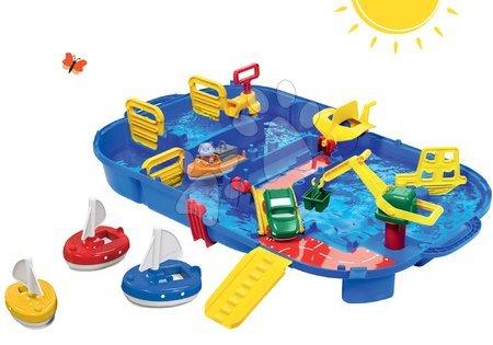 Akce - Set vodní dráha Lock Box v kufříku AquaPlay s vodní pumpou a 3 plachetnice od 3 let