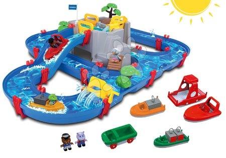 AquaPlay - Set vodní dráha Mountain Lake AquaPlay s horskou jeskyní a loďky s čluny od 3 let