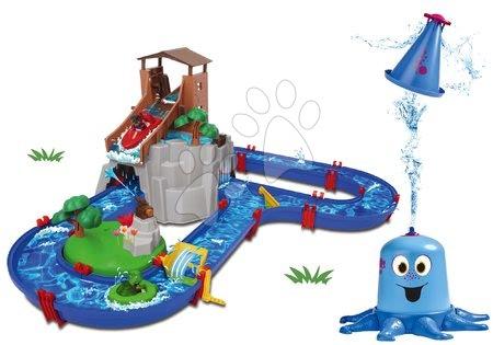 AquaPlay - Set vodní dráha Adventure Land AquaPlay dobrodružství pod vodopádem a stříkající chobotnice
