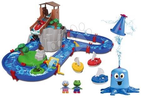 AquaPlay - Set vodní dráha Adventure Land AquaPlay dobrodružství pod vodopádem a stříkající vodní chobotnice s plachetnicemi