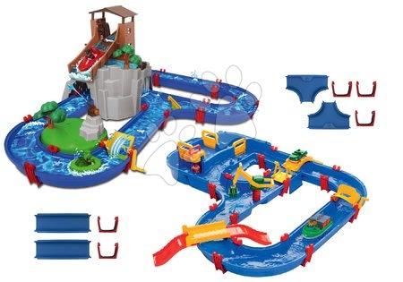 AquaPlay - Set vodní dráha Adventure Land AquaPlay dobrodružství pod vodopádem a MegaBridge s vodní přehradou a náhradní díly