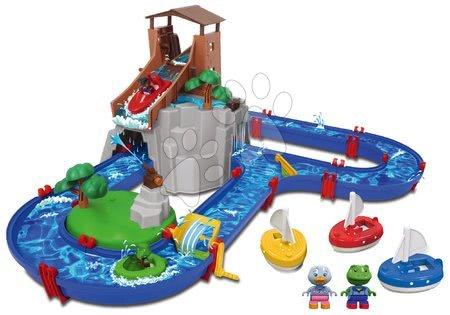 Set vodní dráha Adventure Land AquaPlay dobrodružství pod vodopádem a plachetnice s postavičkami jako Dárek