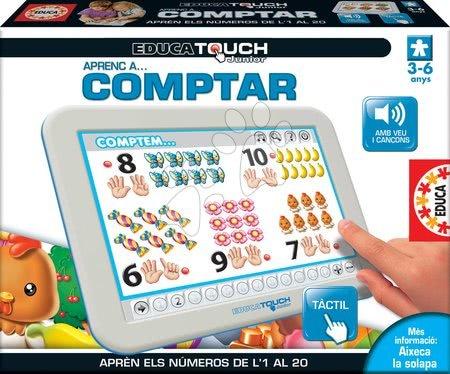 Interaktivne igrače - Elektronska tablica Štejemo od 1 do 20 Educa za otroke od 3-6 leta v španščini