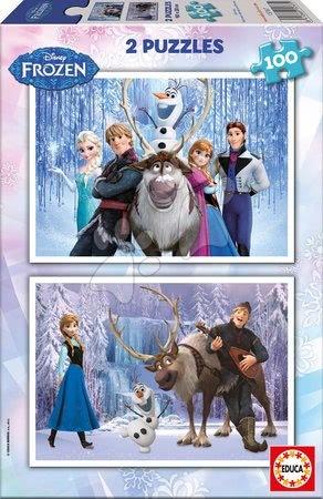 Puzzle Frozen - Ľadové kráľovstvo Educa 2x100 dielov od 5 rokov