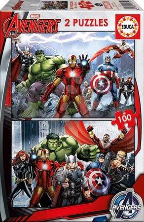 Avengers - Puzzle Boszzúállók Educa 2x 100 db 5 évtől