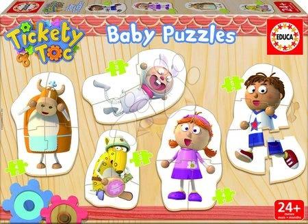 Puzzle pentru copii  - Baby puzzle Animăluțe Tickety Toc Educa 5-imagini de la 24 de luni