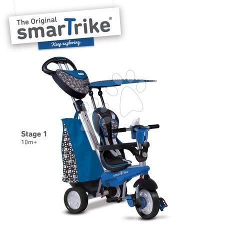 Tricikli - Tricikel Dream Legend Touch Steering 4v1 smarTrike z 2 torbama modro-črn od 10 mes