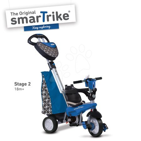 Tricikli - Tricikel Dream Legend Touch Steering 4v1 smarTrike z 2 torbama modro-črn od 10 mes_1