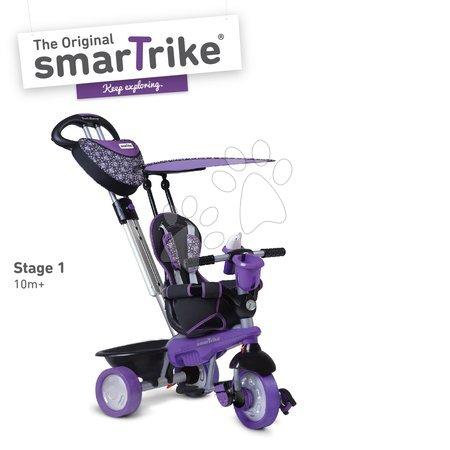 Trojkolky smarTrike - Trojkolka Dream Team Purple&Black Touch Steering 4v1 smarTrike s tlmičom fialovo-čierna od 10 mes