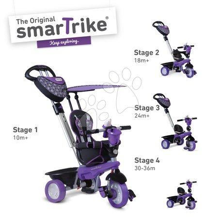 Tříkolka Dream Team Purple Black 4v1 smarTrike Touch Steering s tlmičem fialovo-černá od 10 měsíců